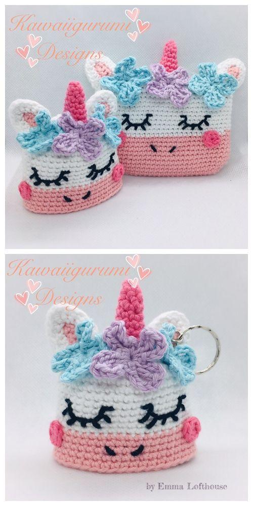 Crochet Unicorn Coin Purse Free Crochet Patterns &…