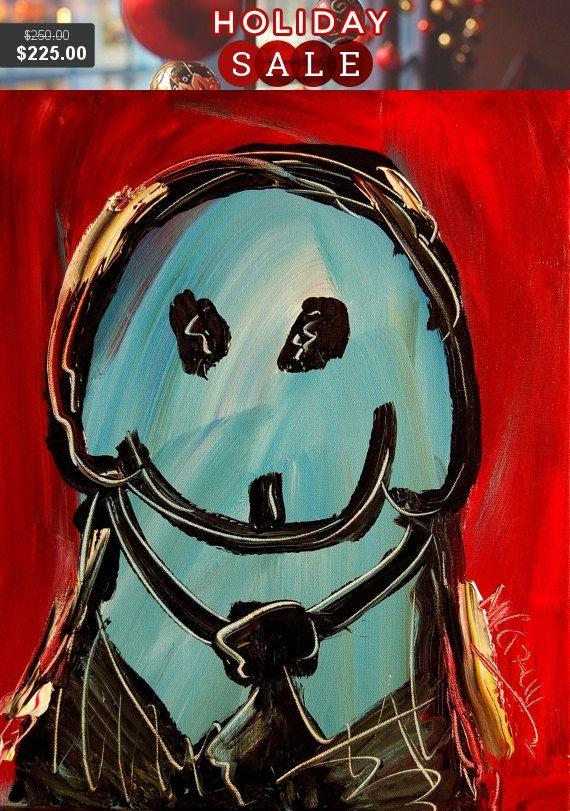 SALE Oil custom Pet Portrait Original Acrylic Painting by kazavart