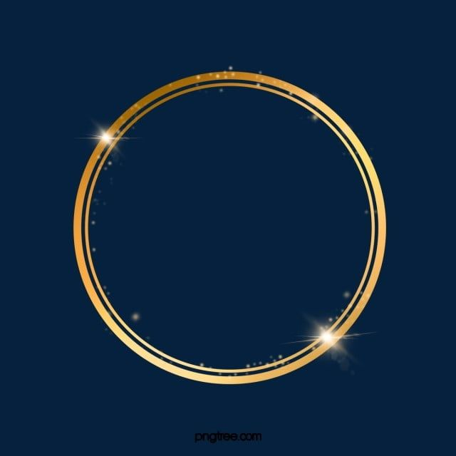 Golden Luminous Circle Line Border Border Clipart Golden Frame Png Transparent Clipart Image And Psd File For Free Download In 2021 Clip Art Borders Frame Clipart Gold Circle Frames