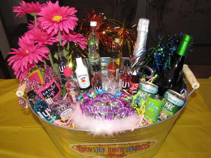 21st Birthday Bucket- another gift idea!! :) @Kathy Chan Riley, @Bailey Francine Riley, @Colleen Sweeney Sauer, @63rd Avenue Mueller, @Brittney Anderson Lane, @Pamela Culligan McGrath, @Nicole Novembrino Wegienka