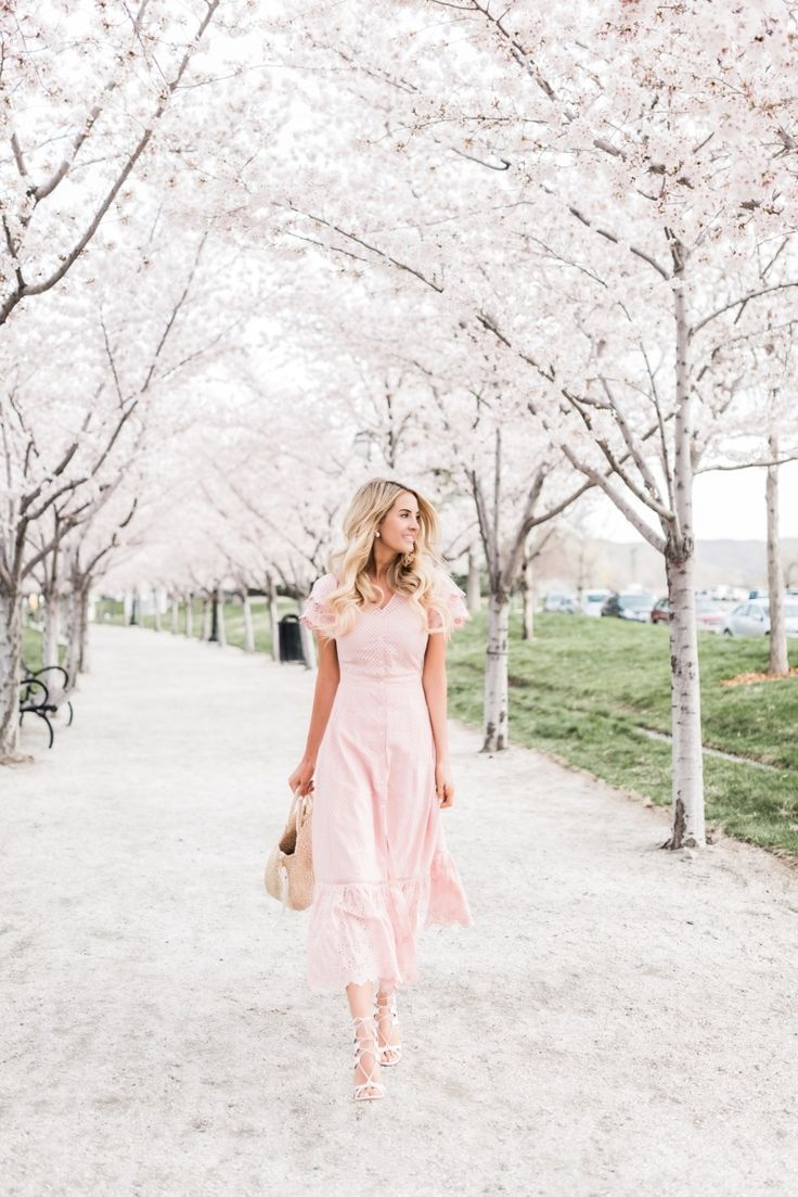 Cherry Blossoms Cherry Blossom Outfit Whimsical Dress Fashion