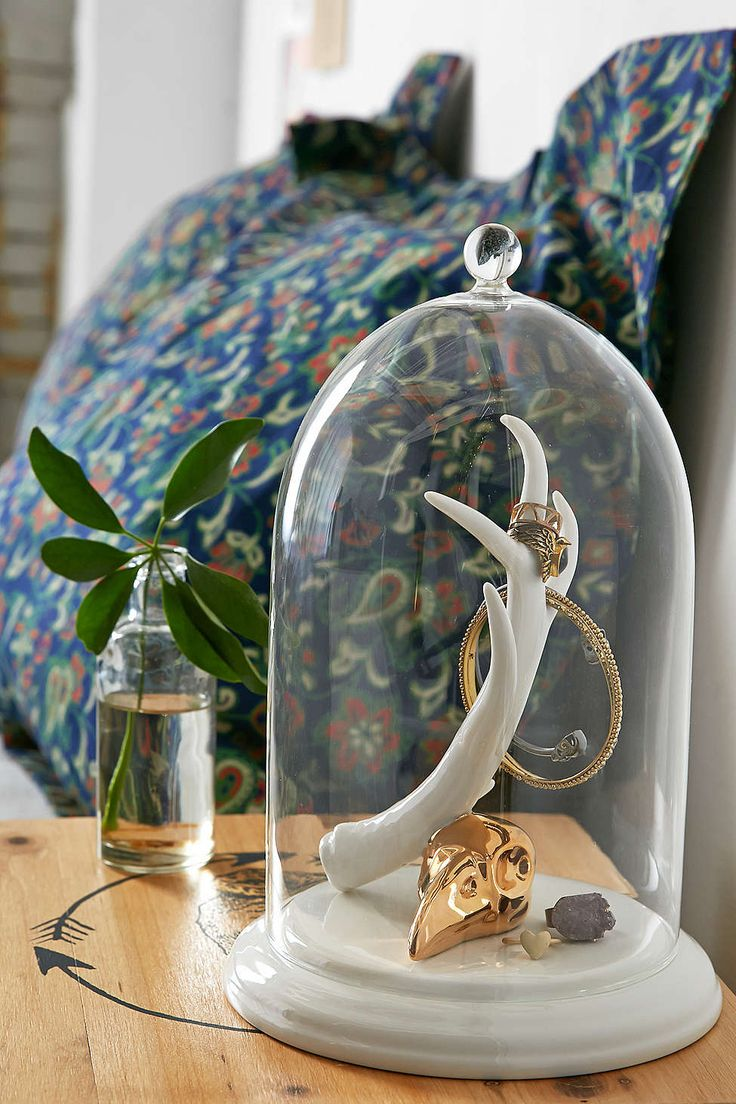 77 best images about glass cloche jewelry storage on for Imm living wishbone wall jewelry holder