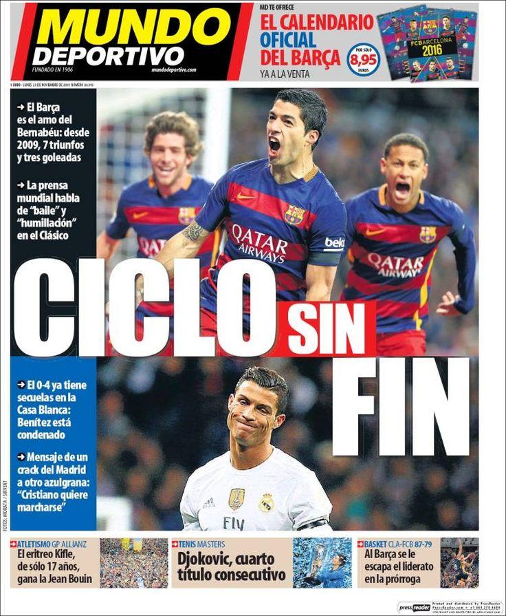Portada Mundo Deportivo 23/11/2015