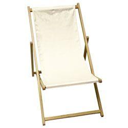 Klapp-Liegestuhl weiß