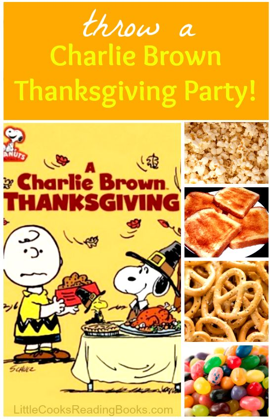 Charlie Brown Thanksgiving Party #Thanksgiving #kids #CharlieBrown