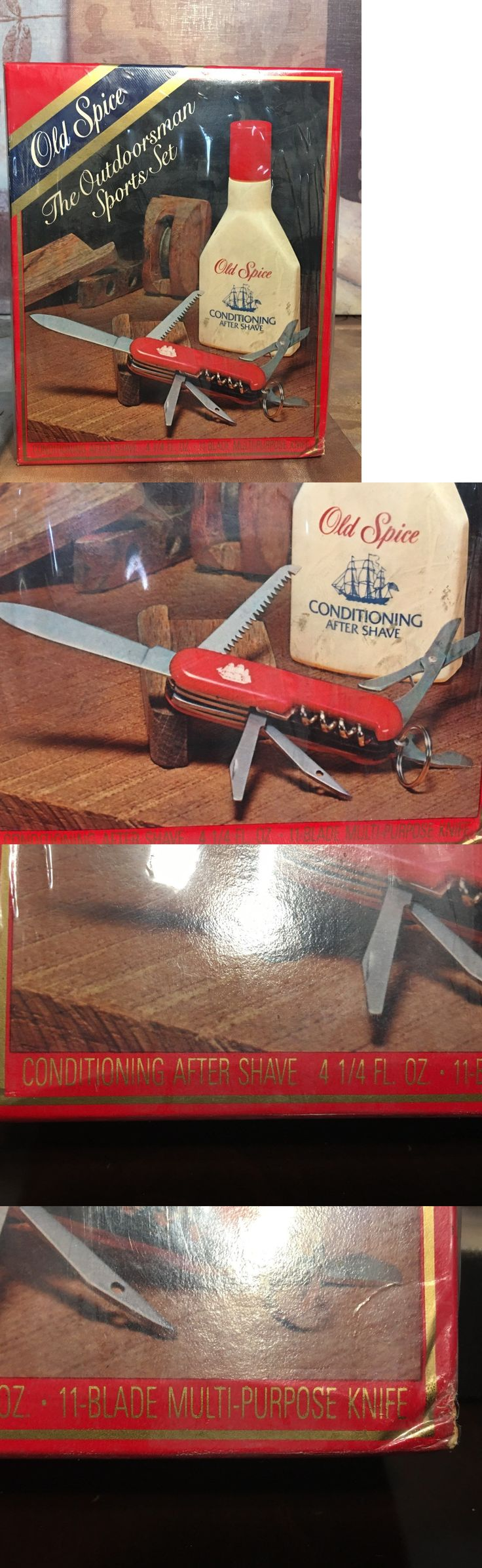 Aftershave and Pre-Shave: Vintage Old Spice Outdoorsman Sports Set Shulton 11 Blade Knife Made In Japan Jd -> BUY IT NOW ONLY: $64.95 on eBay!