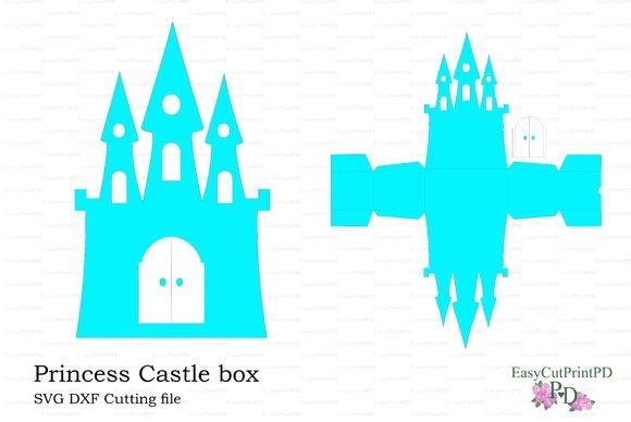 Princess Frozen Castle box template by pdeasyprint on Creative Market