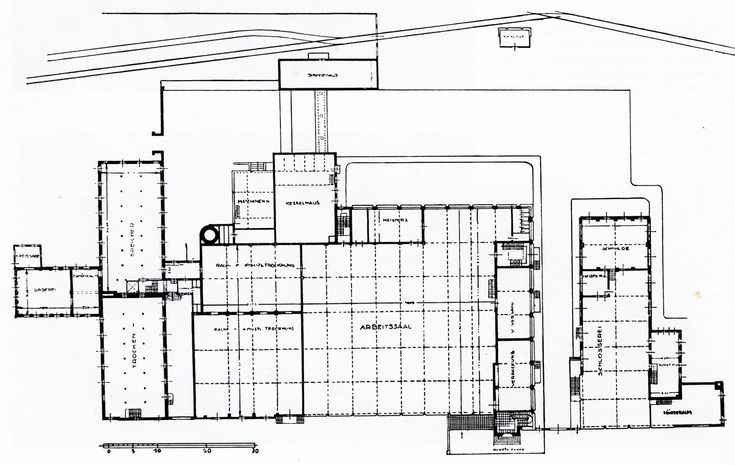 AD Classics: Fagus Factory,Ground floor plan