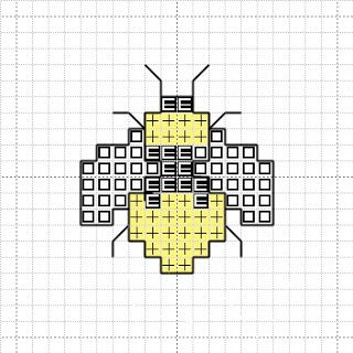 Cross Stitch Mania: Free Bee Cross Stitch Mini Motif Chart