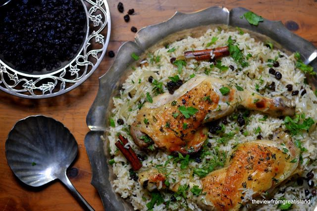 The View from Great Island | Chicken with Caramelized Onion & Cardamom Rice