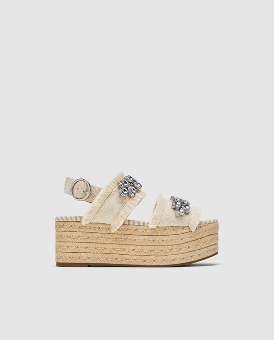 Image 2 of PLATFORM SANDALS WITH BEADED DETAIL from Zara