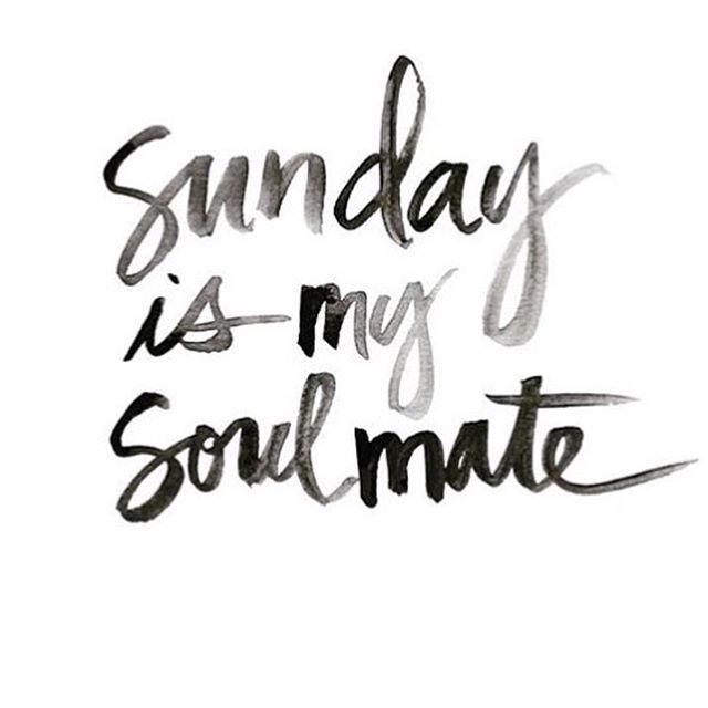 Who is enjoying their Sunday?