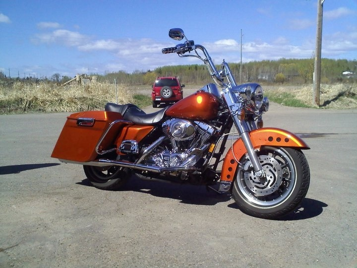 Hot hues candy orange Harley Davidson..