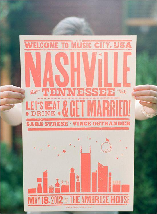 poster wedding favors
