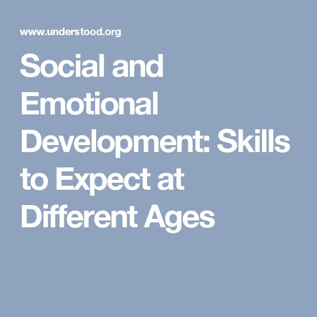 The content here provides descriptions as to where a child is or should be in terms of social and emotional skills.