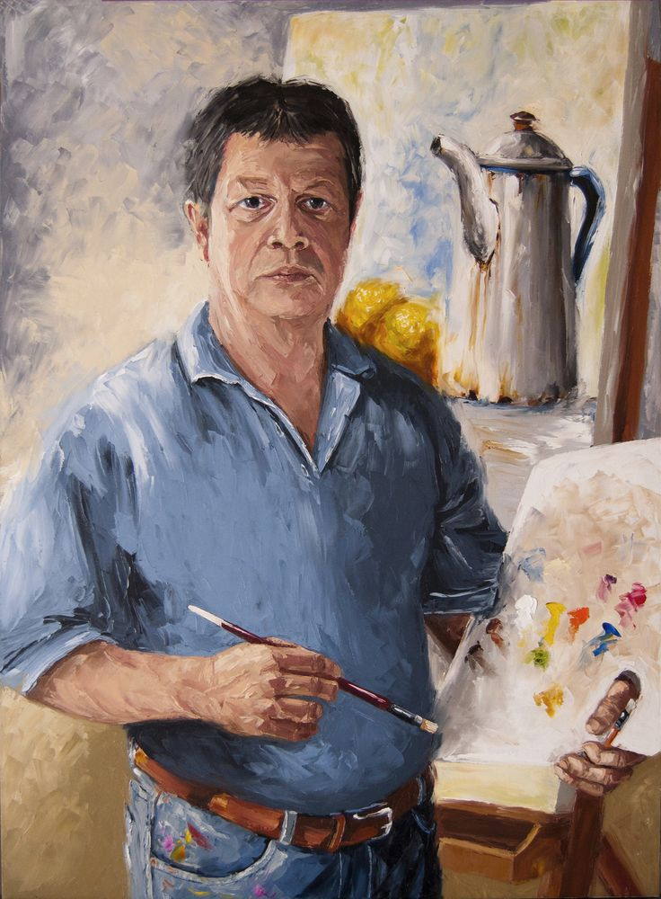 Autorretrato - Oleo con espátula sobre lienzo - 100 x 75 cm - 2013