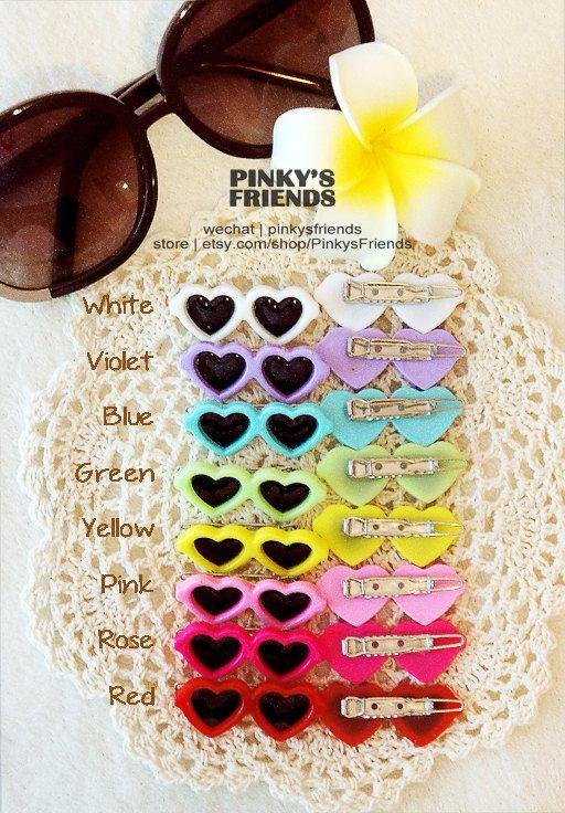 Heart Sunglass Pet Hairpin / Headaddress / Headwear by PinkysFriends, $4.00