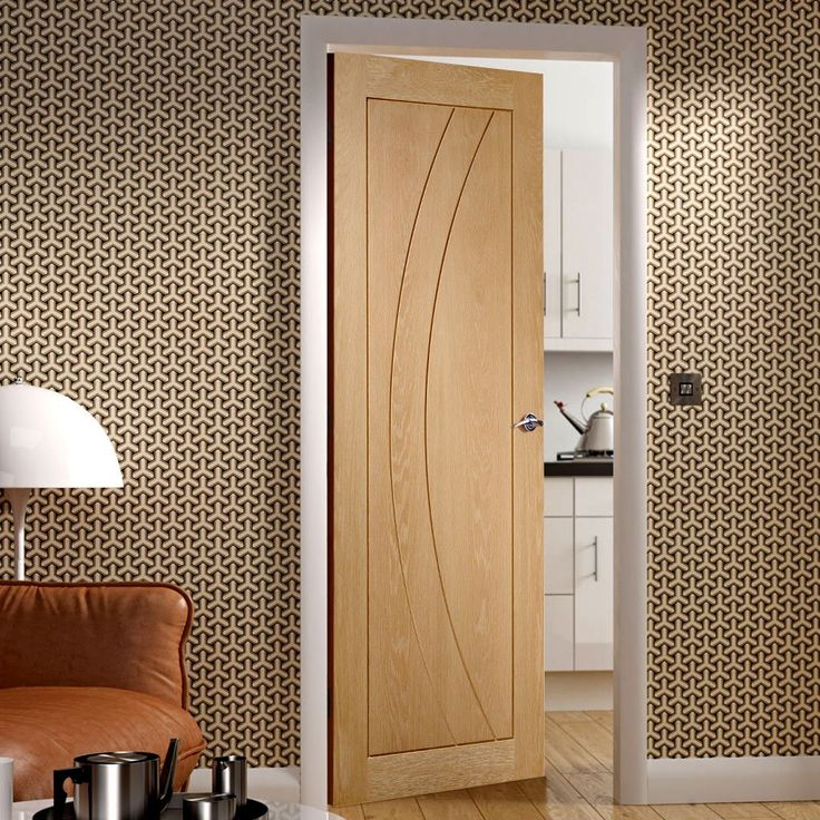 Our Prefinished Salerno Oak Flush Panel Door Is A Bright New Door Style  With A Stylish
