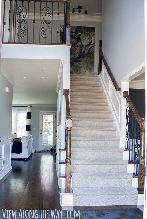Best Foyer With Dark Hardwoods And White Trim My Georgian 640 x 480