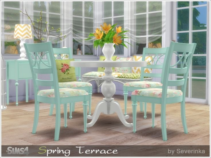 Created By Severinka Spring Terrace Created For: The Sims 4 Set Building  Objects, The Furniture And Decor To Design Terraces, Verandas Or Dining Room,  ...