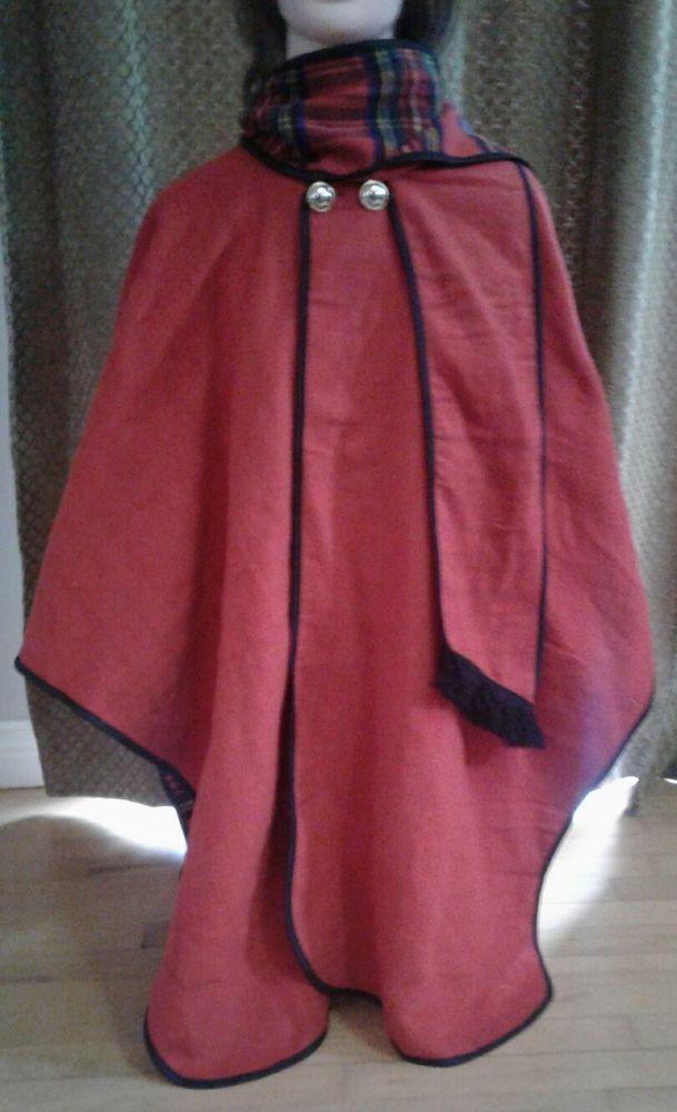 Highland Tartan Tweeds of Scotland Wool Blend Tartan Cape Women's Poncho Shawl | eBay