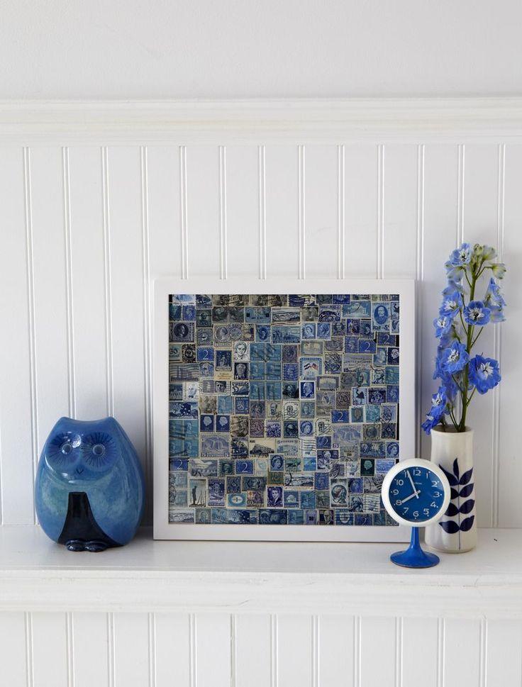 Stamp collage art