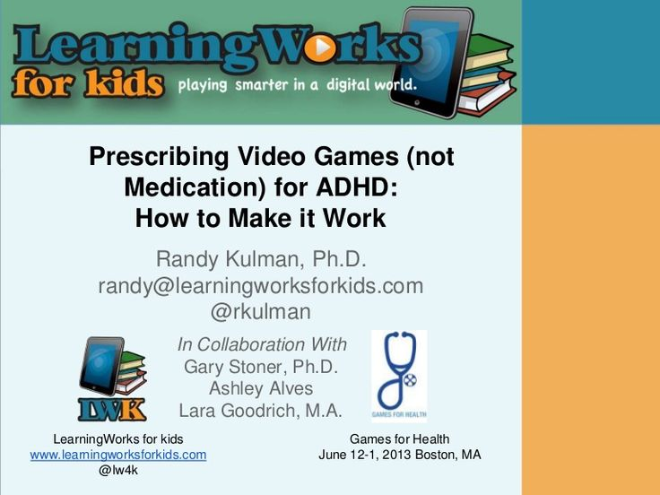 This presentation explores ways to utilize video games as powerful tools for kids with ADHD in order to improve their executive functioning skills.
