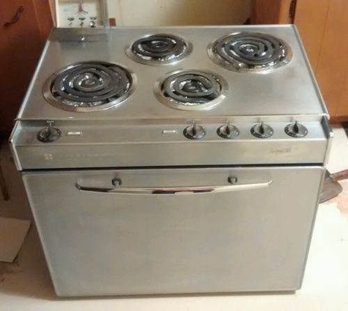 Vintage 1964 Frigidaire Stainless Steel Electric Stove ...