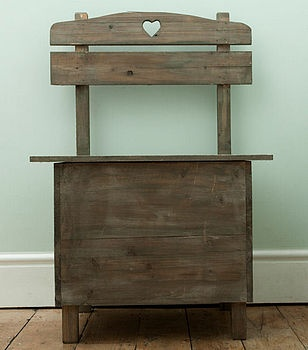 Reclaimed Wooden Hall Storage Bench - from Not on the High Street.com