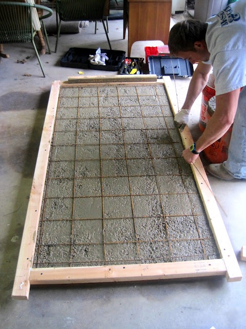 Building a concrete tabletop