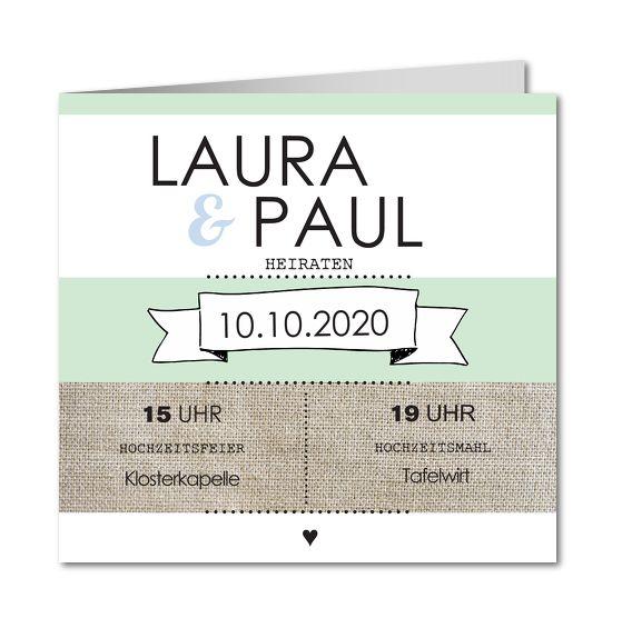 Kreative Hochzeitseinladungen │ Planet-cards.de