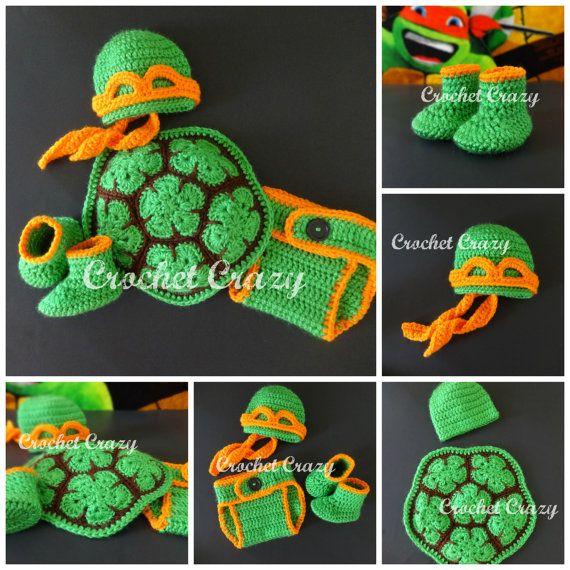 Crochet Teenage Mutant Ninja Turtle Inspired By CrochetCrazy2014