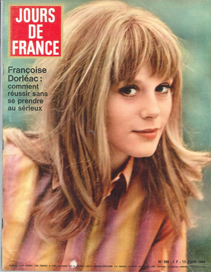 fran oise dorl ac jours de france n 500 13 juin 1964 yesterday yes a day pinterest bangs. Black Bedroom Furniture Sets. Home Design Ideas