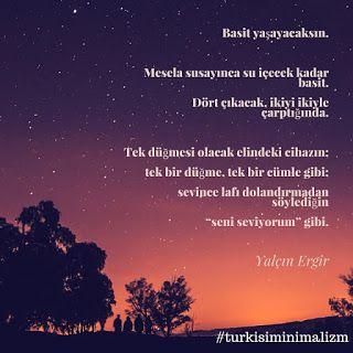 Türk İşi Minimalizm: Basit yaşayacaksın demiş Yalçın Ergir