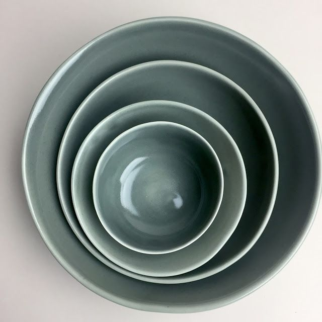 gleena porcelain bowls, in thunder color-way