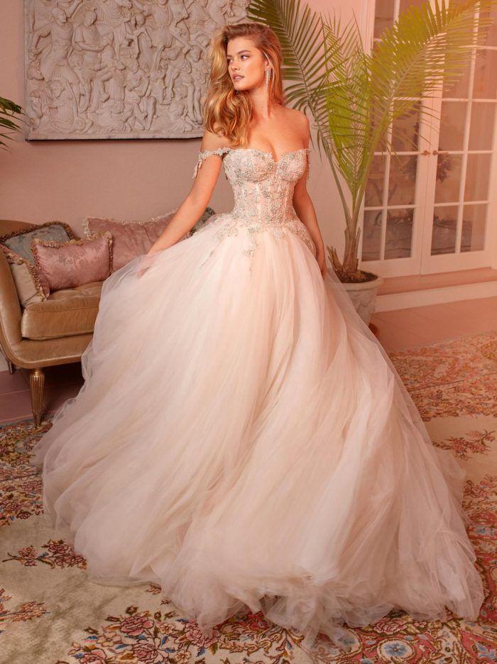 Our Favorite 2019 Wedding Dress Designers Junebug Weddings Wedding Dresses Blush Princess Wedding Dresses Wedding Dresses Corset