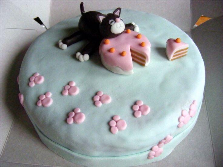 katje met taart