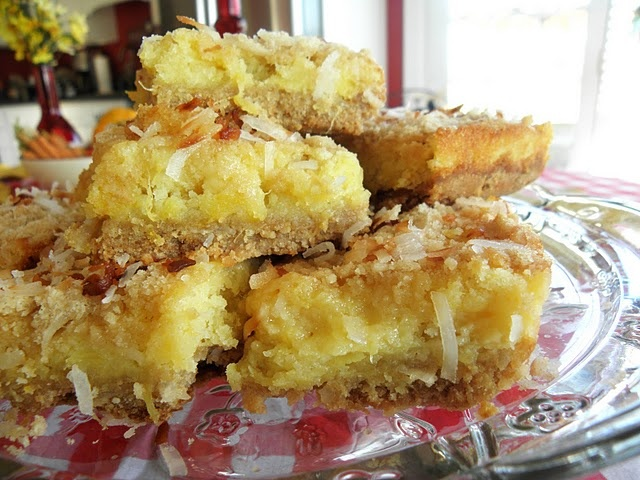 Tropical Pineapple and Coconut Bars
