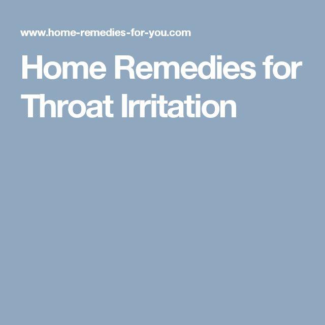 Home Remedies for Throat Irritation