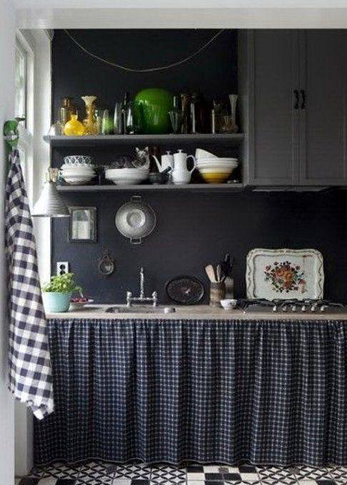 Les 25 meilleures id es concernant rideaux de la cuisine - Rideau pour meuble de cuisine ...