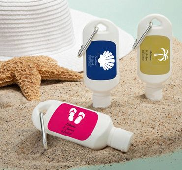 Personalized Sunscreen Favor Mini Sunscreen Favor by EventDazzle