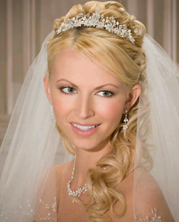 Wedding Hair Up With Veil: Tiara, Veil, Hair