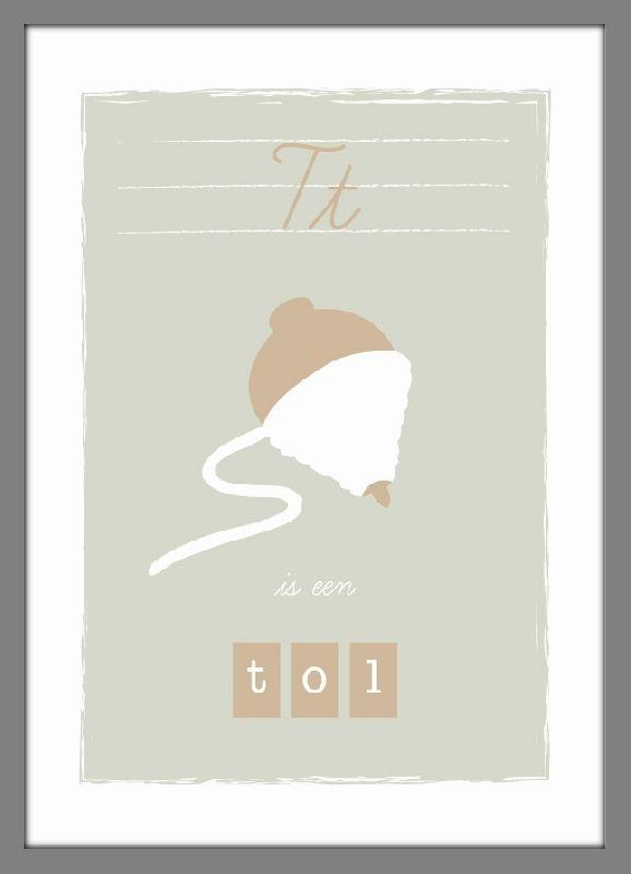 Poster T is een tol