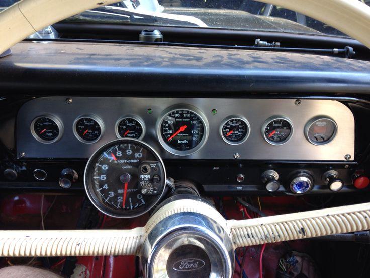 1970 Ford F100 >> Custom dash facia insert 70 F100 4x4 Autometer sports comp gauges | Bumpside FTruck | Gauges ...