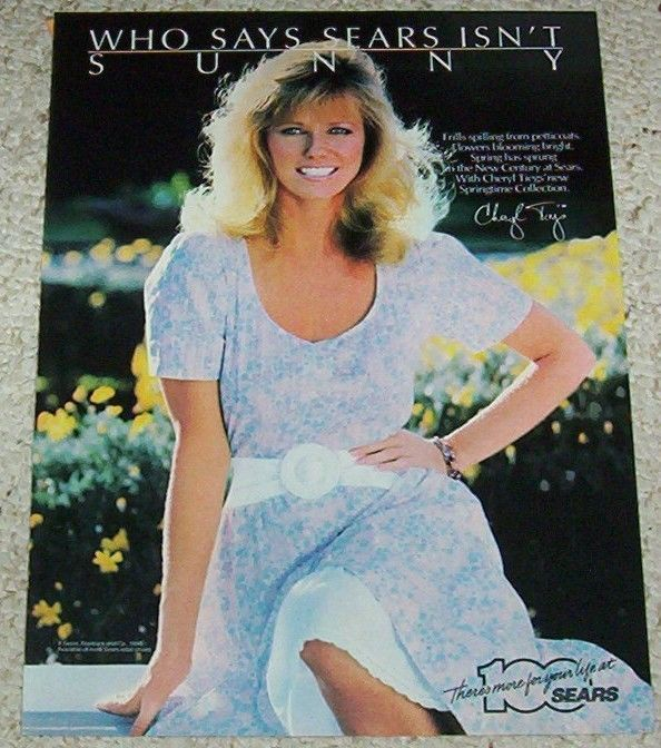 1986 print ad - CHERYL TIEGS Sears clothing fashion advertising vintage ADVERT picclick.com