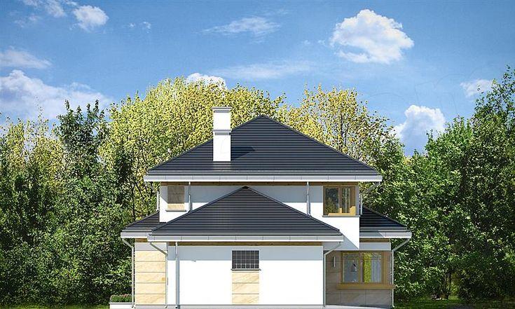 Elewacja lewa projektu Dom z widokiem 5