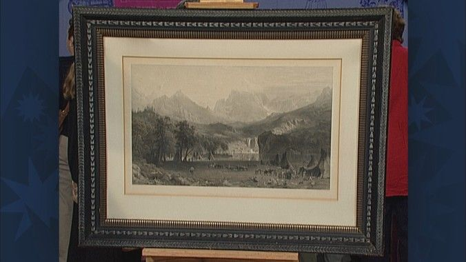 1866 Print after Bierstadt Painting   Antiques Roadshow   PBS