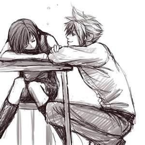 He's so romantic watching over her like that while she is taking a nap Kawaii desu ~