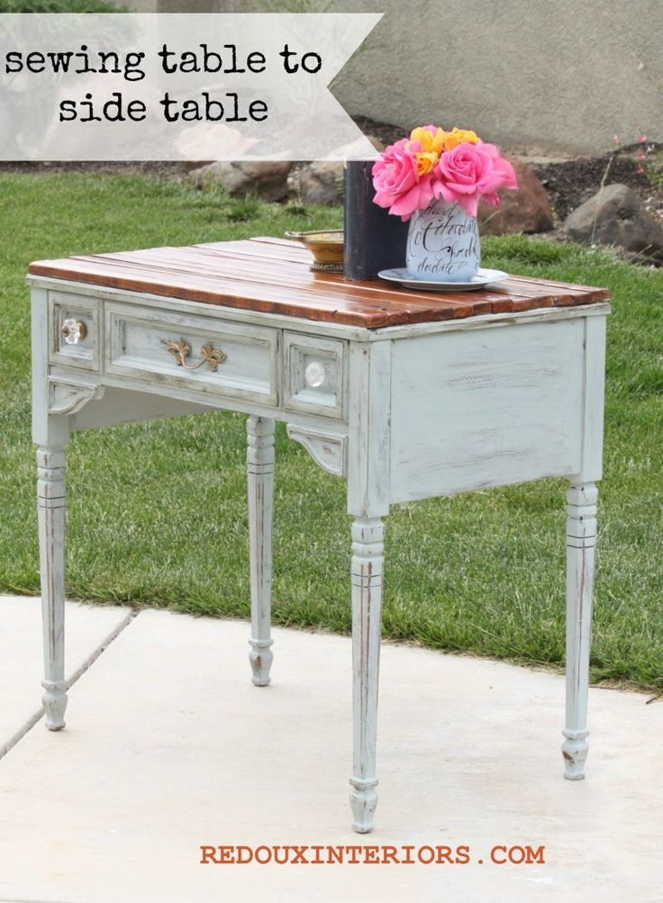 Sewing table makeover with side of the