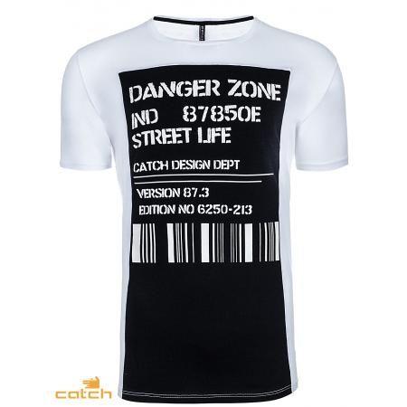 Pánske moderné tričko bielej
